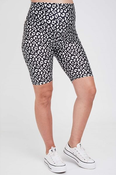 Picture of Printed Maternity Biker Shorts Black and White