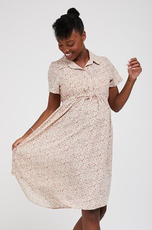 Picture of Trini Front Tie Dress Cream Floral