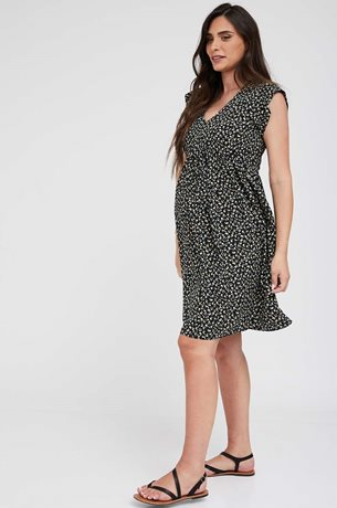 Picture of Sarai Maternity Dress Black Detail