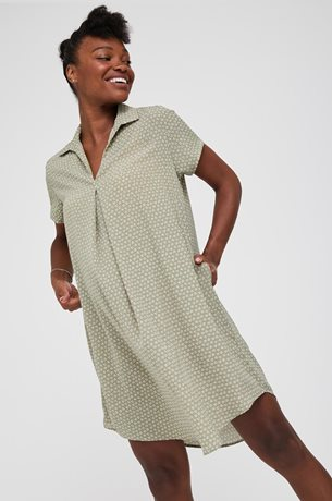 Picture of Oversize Maternity Shift Dress Green Print