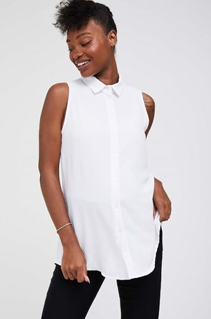 Picture of Kiki Fitted Maternity Blouse White