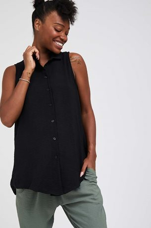Picture of Kiki Maternity Fitted Blouse Black