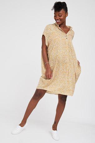 Picture of Shira Maternity Dress Mustard Print