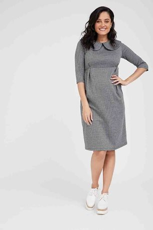 Picture of Liv Maternity Dress Black and White Papita