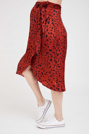 Picture of Wrap Maternity Skirt Brick Print