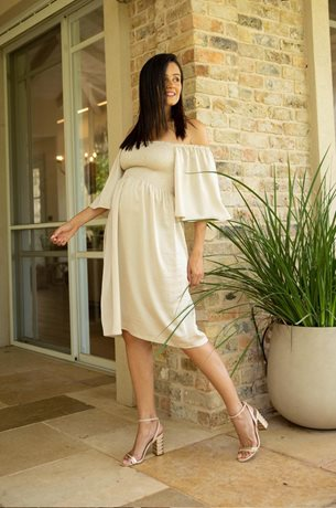 Picture of Patrise Romantic Maternity Dress Ivory