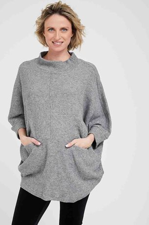 Picture of Monica Maternity Knit Top Grey