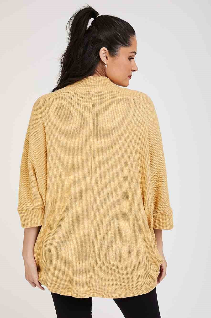 Picture of Monica Maternity Knit Top Mustard
