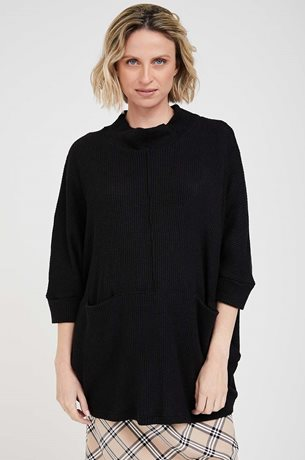 Picture of Monica Maternity Knit Top Black