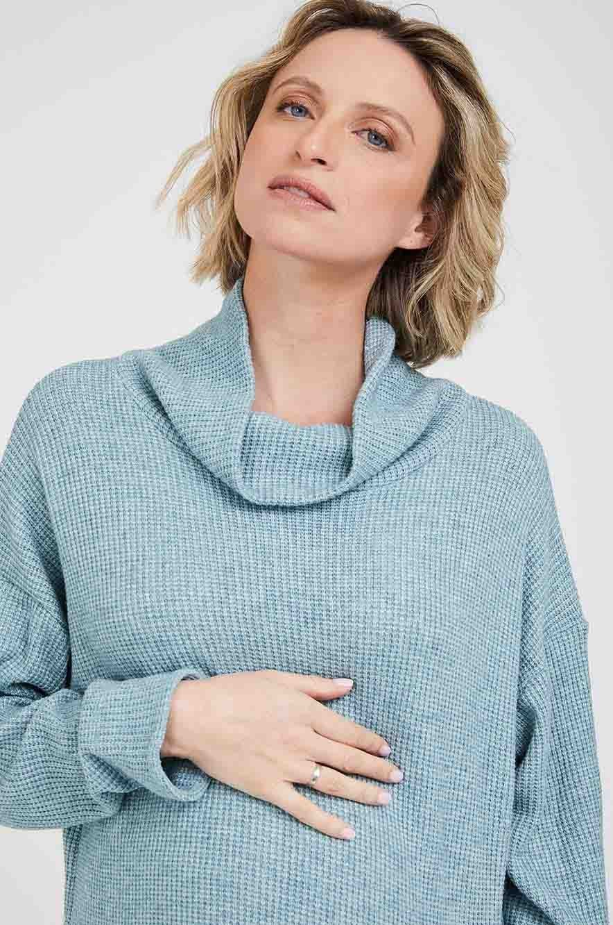 Picture of Tamar Maternity Sweater Turquoise