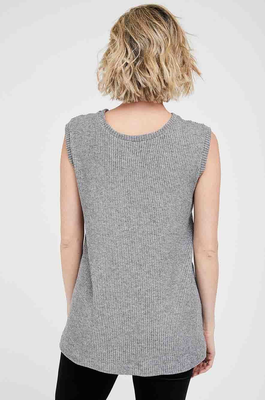 Picture of Odette Maternity Sleeveless Sweater Grey