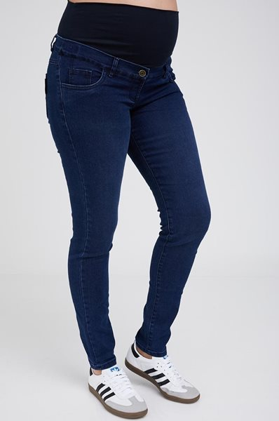 Picture of Super Skinny Maternity Jeans Blue
