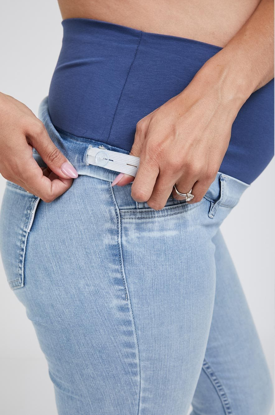Picture of Mom Skinny Maternity Jeans Light Wash