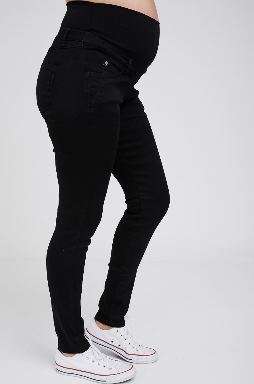 Picture of Donna Super Skinny Black Maternity Jeans