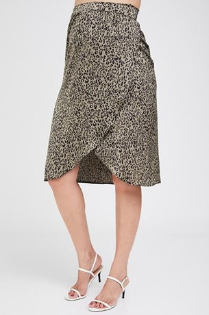Picture of Wrap Maternity Skirt Olive Print
