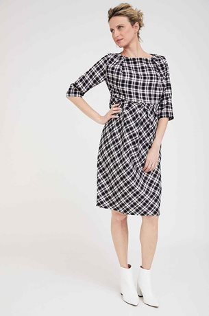 Picture of Brooklyn Maternity Dress Plaid Black & White