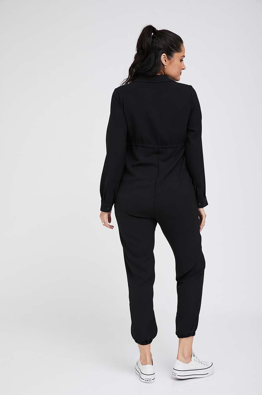 Picture of Arianna Maternity Jumpsuit L.Sleeve Black