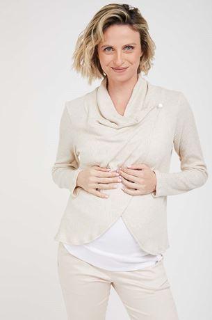 Picture of Wrap Maternity Dalia Cardigan Beige