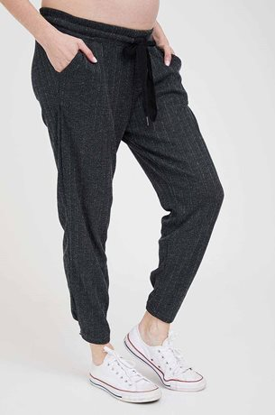 Picture of Netflix & Chill Maternity Pants Dark Grey