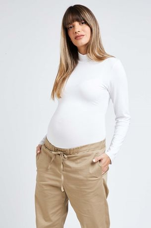 Picture of Linda Maternity Bodysuit L.Sleeve White
